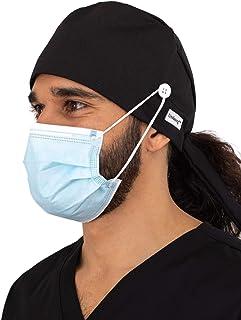 Pop Surgery Cap Unisex Doctor Nurse Surgery Hat Dentist Uniform Cap Print//Solid