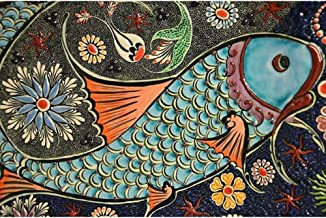 Diamond Painting Kits for Adults, Kids. Home Decoration, Room Office Painted Fish 15.7 × 11.8in 1 Pack by AxiEr