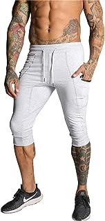 SAMZUEO Mens Casual Shorts 3/4 Jogger Pants Workout Training Jogger Capri Pants