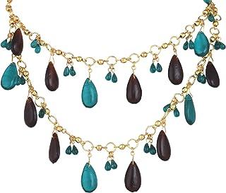 DCA Multicolor Glass::Brass Women Necklace (4321)