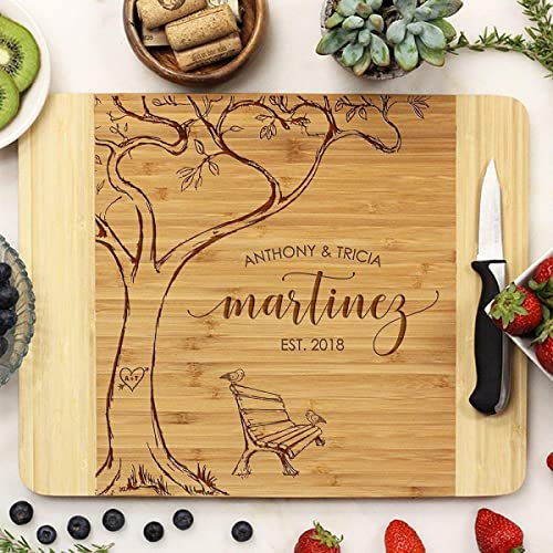 Personalized Cutting Board Perfect Gift For Weddings, Anniversary, Corporate, Couples and Housewarming