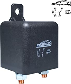 12 V DC 200 Amp 4 Pin Heavy Duty Relay/Split Charge Relay - 4 Terminal Relay - Coil Power 1.8 W