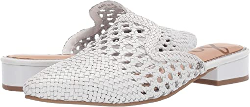 White Woven Leather