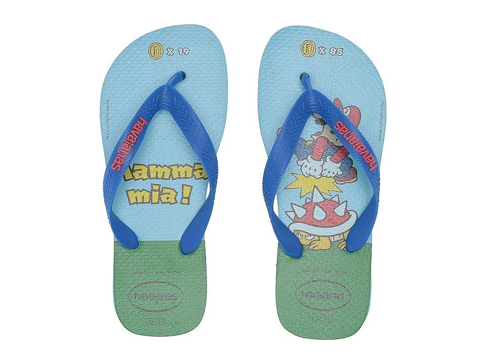 Havaianas Kids Mario Bros Flip-Flop (Toddler/Little Kid/Big Kid) (Blue) Kids Shoes