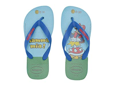 Havaianas Kids Mario Bros Flip-Flop (Toddler/Little Kid/Big Kid) (Blue) Kids Shoes