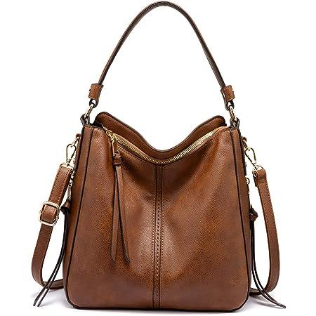Realer Handtasche Damen Shopper Tasche Tote Leder Umhängetasche Groß Schultertasche Frau Elegant Henkeltasche mit Quasten Abnehmbar Schulterriemen