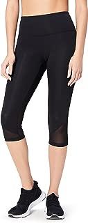 Amazon Brand - Core 10 Women's (XS-3X) 'Race Day' High Waist Run Mesh Capri Legging - 19