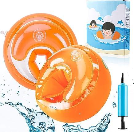 AGPTEK Braccioli Bambini Materiale PVC di Sicurezza Adatto per i Bambini sotto 5 con Peso 6-18 kg ,Arancione