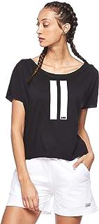 BodyTalk Women's Loose Cut Short-Sleeved T-Shirt, Black, Medium