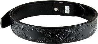 1010004 Genuine Leather Black Freemason Square Compass Belt Sizes 32-60 Mason