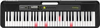 كاسيو اورج بمفاتيح مضيئة لتعليم الموسيقي بدون معلم 61 مفتاح , اسود - LK-S250