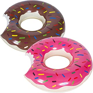 WENTS Donut Anillo de natación Inflable Flotador Gigante Buñuelo Piscina, Verano natación Anillos, Agua Pool Float Juguetes inflables para Adultos y niños 2pcs