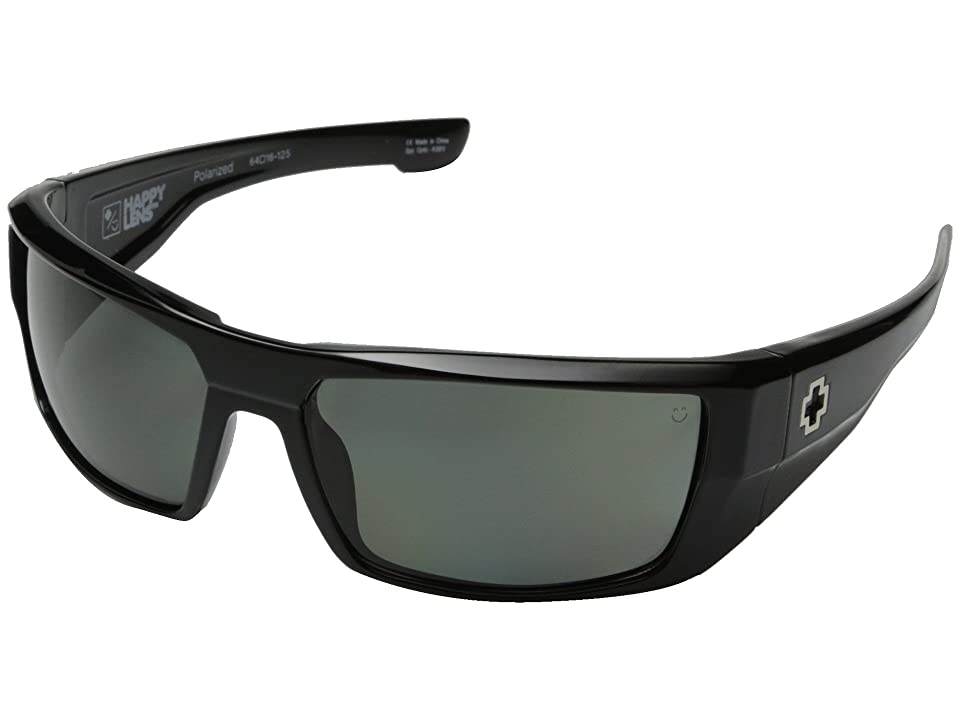 Spy Optic Dirk (Black/Happy Gray Green Polar) Sport Sunglasses