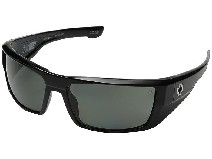 Spy Optic Dirk (Black/Happy Gray Green Polar) Sport Sunglasses