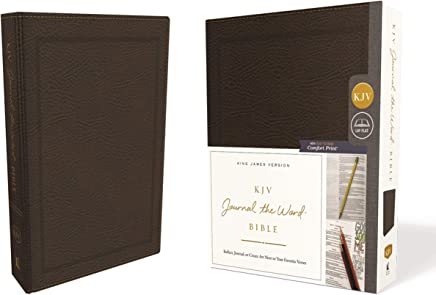 KJV Journal the Word Bible: King James Version, Brown, Bonded Leather: Reflect, Journal, or Create Art Next to Your Favorite Verses: Red Letter Edition, Comfort Print