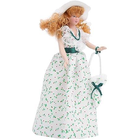Unbekannt Frau Im Blauen Kleid Blonde Haare Puppe Fur Puppenhaus Miniatur 1 12 Amazon De Spielzeug