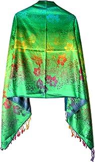 Highwaypay Women`s Fashionable Retro Style Floral Pattern Pashmina Shawl Wrap Scarf