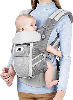 8cb1cd20c3b12b Meinkind Marsupio Neonati Ergonomico Porta Bebè 4 in 1 con Cappuccio  Rimovibile e Poggiatesta Regolabile per
