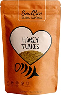 SoulBee HONEY FLAKES - Natural Extra Topping - Crunchy Roasted Honey Taste - KETO Friendly, Dairy Free, Tree Nuts Free, No...