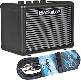 Blackstar Fly 3 Bass - Miniamplificador de graves y cable jack keepdrum (3 m)