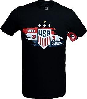 Icon Sports Group U.S.Soccer USWNT Men's Soccer Cotton T-Shirt (Black)