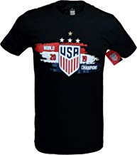 Icon Sports Group U.S.Soccer USWNT Men's Soccer Cotton T-Shirt (Black)