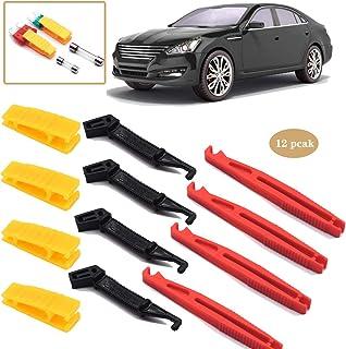 Dancepandas Sicherungszieher Kfz 12PCS Universal Glassicherungszieher Kunststoff Flachsicherung Abzieher Auto Sicherungen Einsteckwerkzeug Zum Entfernen (Rot schwarz gelb)