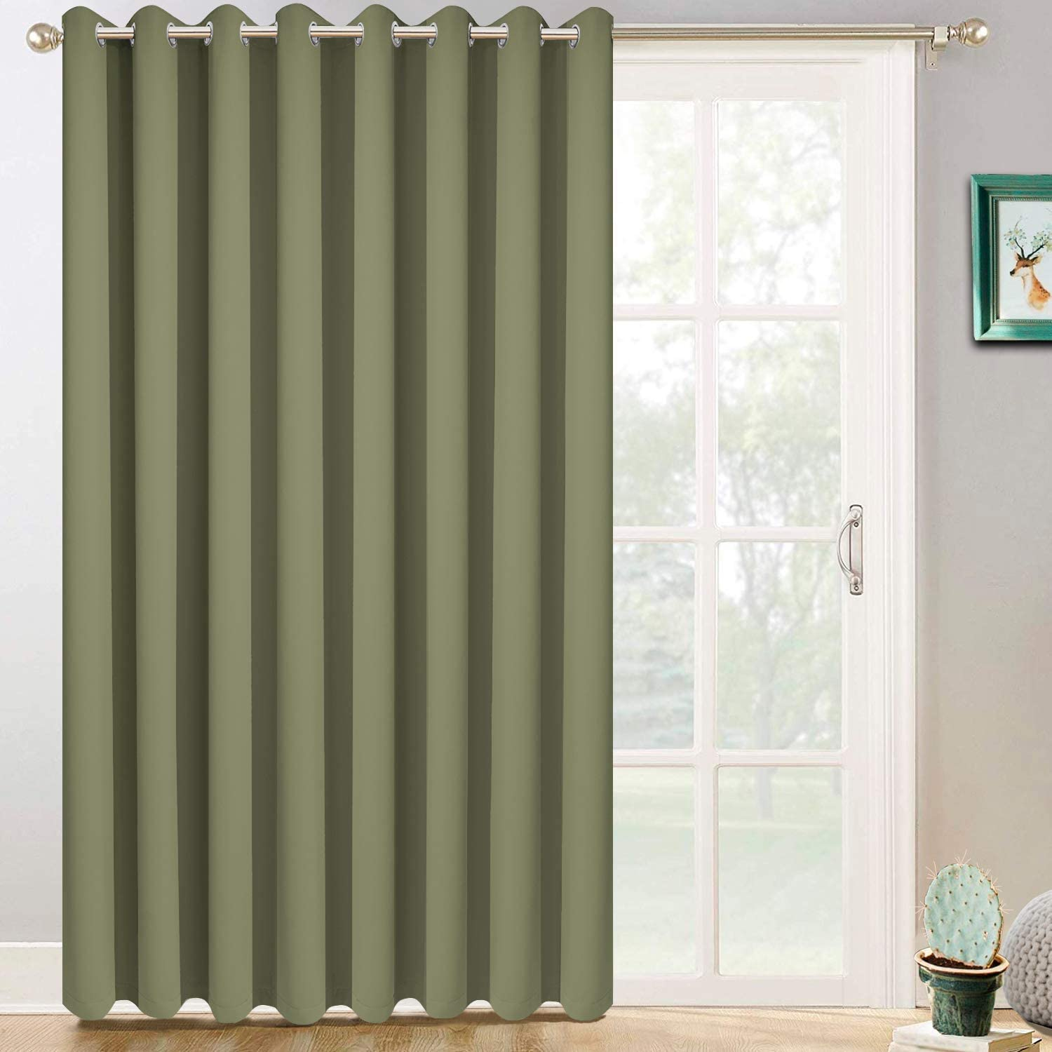 Yakamok Extra Wide Blackout Curtain Glass Sliding 毎日続々入荷 Grom Door 選択 for