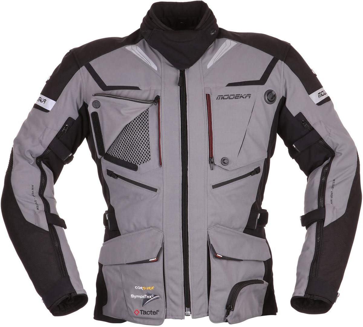 Modeka Panamericana Motorrad Textiljacke Grau Schwarz M Auto