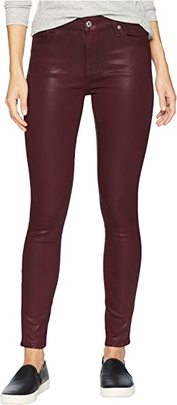 Ankle Skinny in Bordeaux Coated Color
