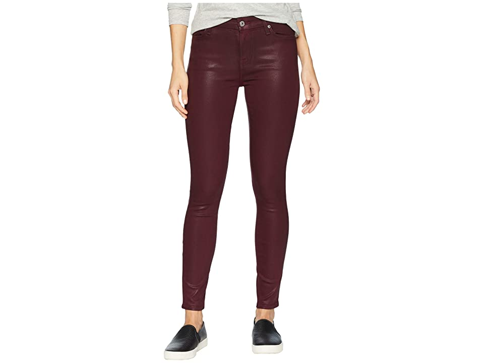 Image of 7 For All Mankind Ankle Skinny in Bordeaux Coated Color (Bordeaux Coated Color) Women's Jeans