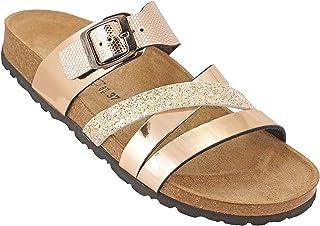 012-289 Biochic Ladies Sandals Metallic Gold