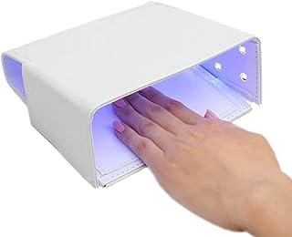 mykym 最新機種 54WUVライト LEDライト ネイルドライヤー PUレザー レジン用 UVレジン ジェルネイル 硬化用ライト コンパクト 折りたたみ式 USB給電 … 白