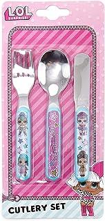 L.O.L. Surprise - Cubertería (3 piezas, cuchillo LOL, tenedor y cuchara)