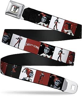 Buckle-Down Men's Seatbelt Belt Harley Quinn Wjk004