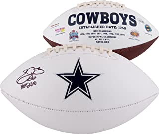 Emmitt Smith Dallas Cowboys Autographed White Panel Football with