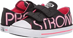 0028c62220504e Black Racer Pink White. 21. Converse Kids. Chuck Taylor All Star Pretty  Strong 2V - Ox (Infant Toddler)
