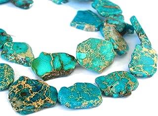 5pcs Natural Ocean Blue Sea Sediment Regalite Jasper Smooth Free Form Gemstone Nugget Loose Stone Beads ~ 15-45mm GX8