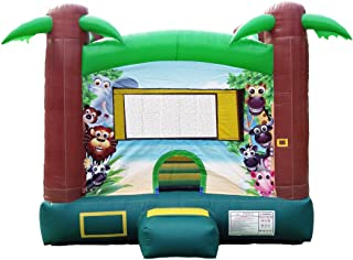 JumpOrange Duralite Safari Party House Bounce House Backyard Party Moonwalk Size 13'x13'