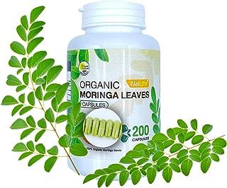 Organic Moringa Leaves Capsules Pure Leaves Powder 200 Capsules
