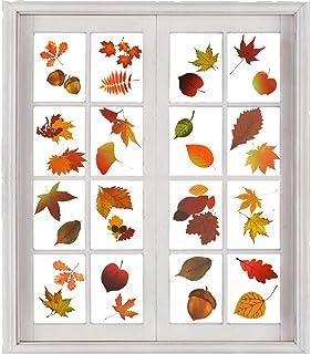AIEX 200 Stuks Herfstbladeren Raamstickers Thanksgiving Raam Kleeft Herfstbladeren Thanksgiving Decoraties Seizoensgebonde...