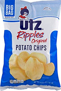 Utz Ripples Original Potato Chips in a 14 oz. Big Bag (4 Bags)