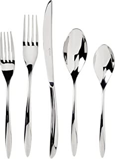 Viners Style Pattern 18/10 Stainless Steel Cutlery Set With Gift Box; Curved, Slender Handles Bring Sleek Sophistication To Every Meal; Perfect Weight and Balance; 20-Piece Set; 4 Place Settings