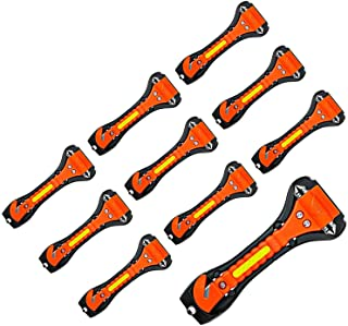 Nomiou 10 Pack Safety Hammer, Emergency Escape Tool with Car Window Breaker and Seat Belt Cutter, Life Saving Survival Kit
