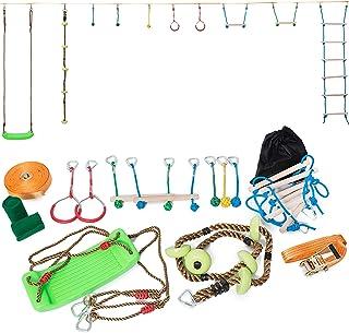 Minetom Slackline - Juego de Accesorios para Slackline para niños (15 m)