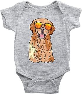 Golden Labrador Retriever Baby Romper Bodysuit, Funny Gift for Dog Lovers