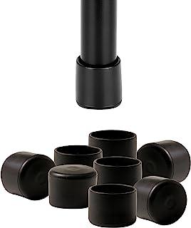 IPEA Stoeldoppen van zacht rubber, 16 stuks, ronde rubberen poten voor houten poten, kunststof of ijzer van stoelen en taf...