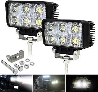 Safego 2X 18W LED Luz de Trabajo Lámpara Antiniebla Bar Viga de Inundación del Iluminacion Conducción LED Faros Coche Luz Auto Moto Camión Campo a Través del Carro Barco Minería Pesca Vehículos