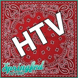 RED BANDANA PATTERN HTV Heat Transfer Vinyl 12