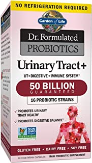 Garden of Life - Dr. Formulated Probiotics Urinary Tract+ - Acidophilus Probiotic Supports Urinary Tract Health, Digestive...